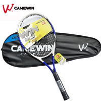 1 Piece High Quality Aluminum Alloy Tennis Racket CAMEWIN Brand 75cm Tennis Racket with Bag For Men and Women (Black Blue)