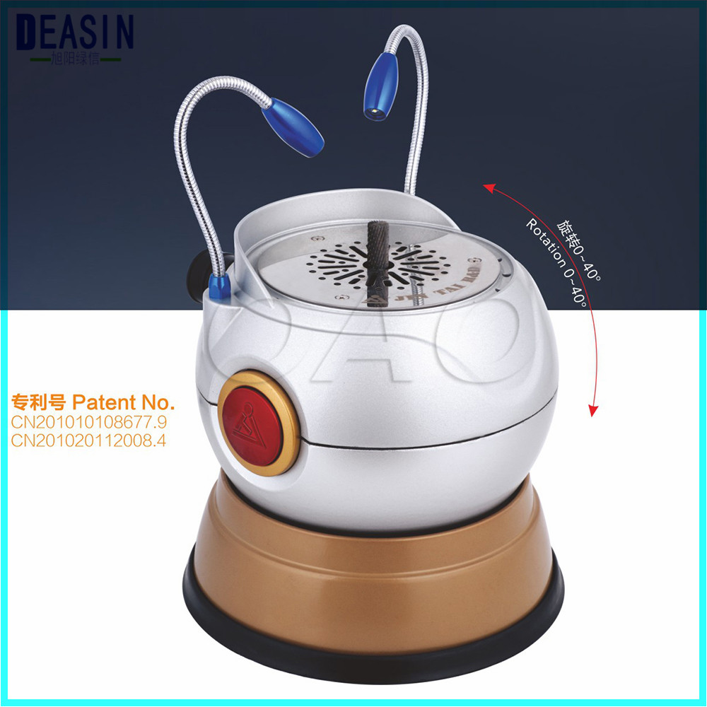 Dental Lab Equipment BALL TYPE Dental ARCH TRIMMER rotatable plaster model trimming machine with LED light