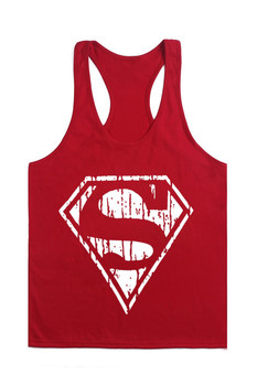 2016 bodybuilding clothing superman vest good quality pure cotton summer wear work out fitness keep fit.jpg 350x350
