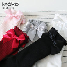 Baby Socks Anti-Slip Toddler Infant Knee-High Kids Cotton 0-24-Months Cute New Bow Combed