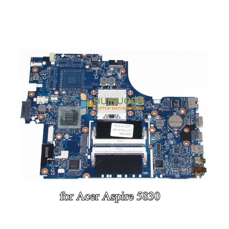 P5LJ0 LA-7221P For Acer Aspire 5830 Laptop Motherboard MBRHM02001 Tarjeta Madre With intel Graphics DDR3