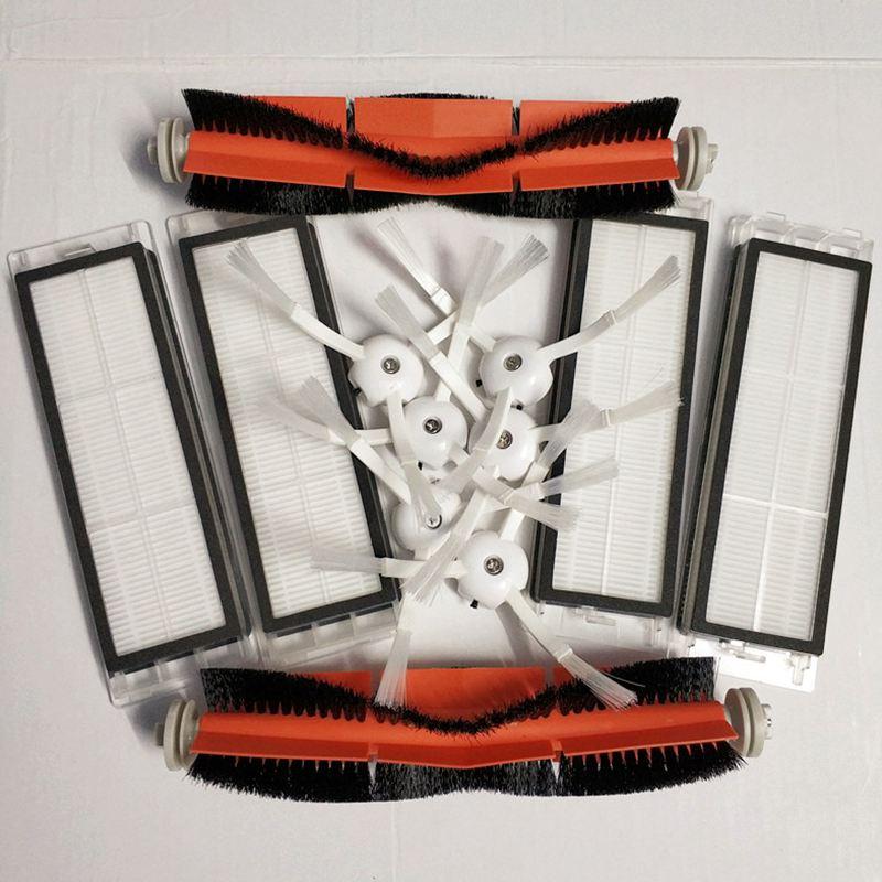 6 x seite pinsel + 4x HEPA-filter + 2x wichtigsten pinsel Geeignet für xiaomi vakuum 2 roborock s50 xiaomi roborock xiaomi mi Roboter Geschenk