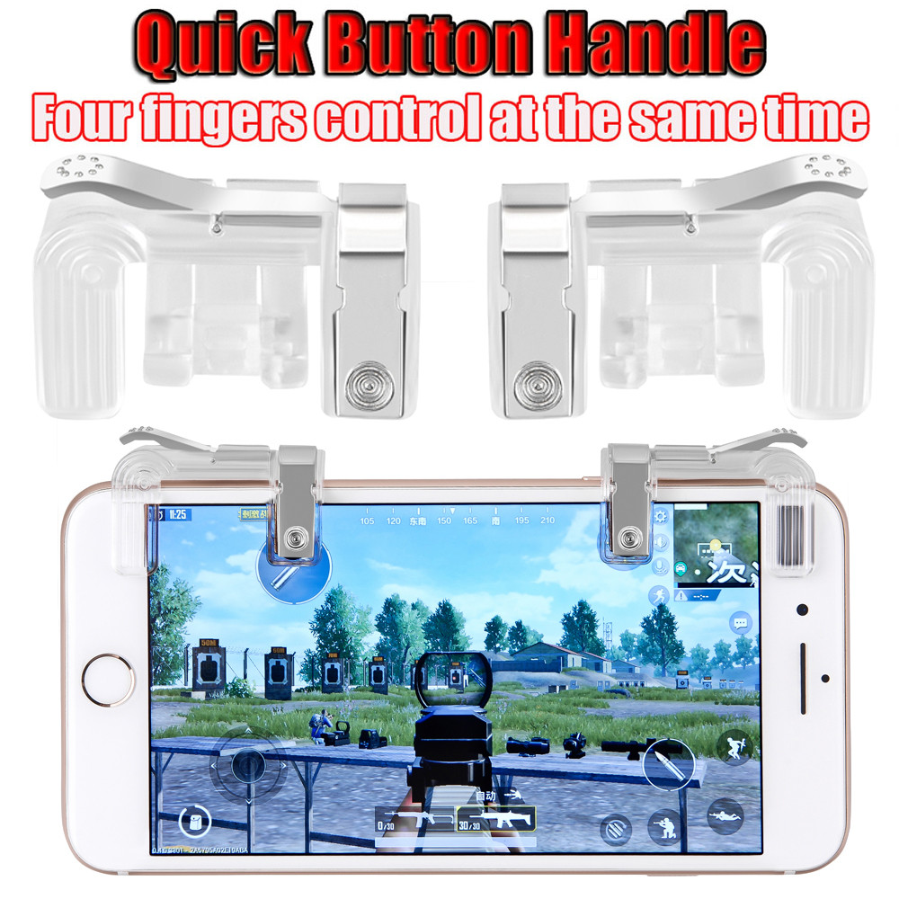 Phone Mobile Gaming Trigger Fire Button Handle for PUBG L1R1 Shooter Controller Cell Pho ...