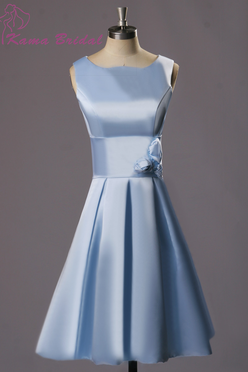 Kama bridal 2016 new design bridesmaid dresses light sky for Dresses for wedding party