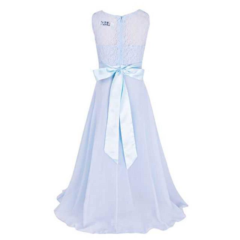 Summer Girls Dress Chiffon Sleeveless Infant Long Dress O Neck Girl Wedding Dresses Lace Kids Party Clothes Children Clothing (12)
