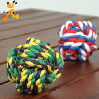 6CM Pet Dog Toy Cotton Rope Ball Bite Resistance Ball Toy Colorful Rope Braided Dog Treat Ball Puppy Chew Toy Cleaning Tooth 1