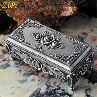 Zipi Ретро Европейский Стиль Корейская принцесса шкатулка долго о шкаф металлический большая гардеробная ящик для хранения ювелирных издели...