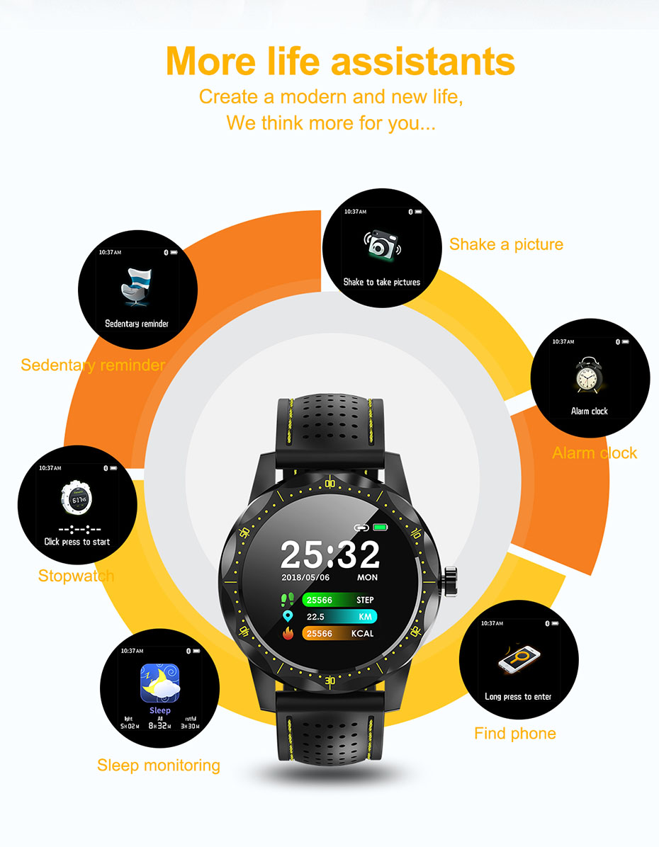 Color Screen Heart Rate Smart Watch IP68 Waterproof Activity Tracker Fitness Tracker Bracelet Clock BRIM for Android IOS PhoneColor Screen Heart Rate Smart Watch IP68 Waterproof Activity Tracker Fitness Tracker Bracelet Clock BRIM for Android IOS Phone