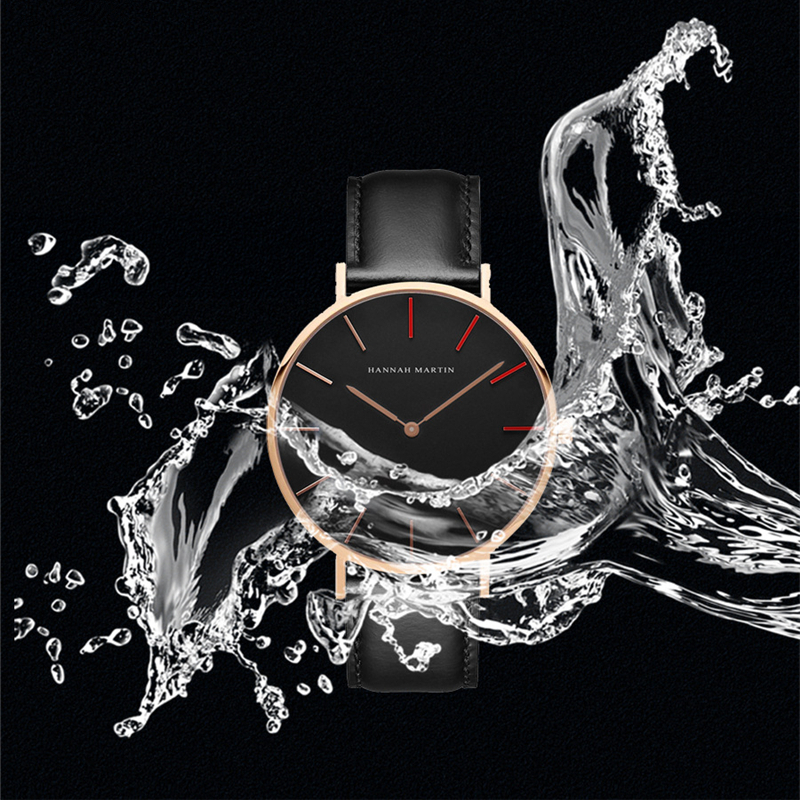Hannah Martin Design Watches Men Fashion Casual 7MM Ultra thin Red Black Collocation 40MM Dial Watch With box gift swan Hot