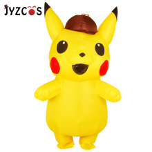 JYZCOS Adults Kids Inflatable Pikachu Costume Pokemon Detective Pikachu Cosplay Halloween Party Costumes Anime Mascot Costumes pikaalafan giant inflatable toy christmas bar party costumes riding elk inflatable performance costumes puppet stage costumes