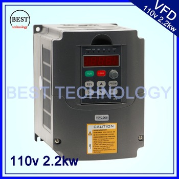 110V 2.2kw VFD Variable Frequency Drive Inverter / VFD 1or 3HP 110V input  3HP110V Output for control cnc spindle motor speed