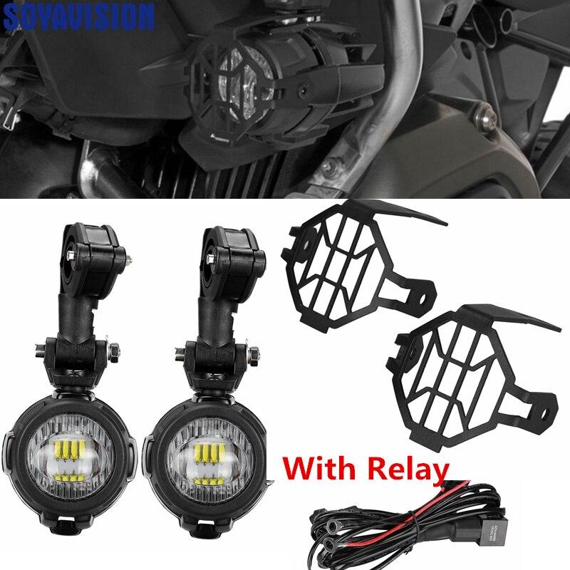 Motorbike Spotlights CREE LED 10W fits BMW R 1100 1150 1200 1250 GS Super Bright