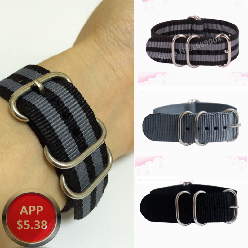 1PCS High quality 18MM 20MM 22MM 24MM nato straps 5 rings Silver buckle nato straps Watch band watch strap 4 colors pilotage leopard ii a6 nato 3 1 24 27mhz rc8129