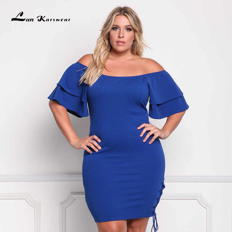 a2157e1fe78e9 2019 Summer Sexy Bodycon Dresses For Women Elegant Short Party Dress Night  Club Off Shoulder Plus Size Female Clothing Vestidos