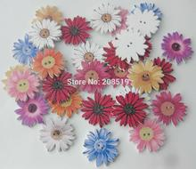 WBNLSL sunflower wood button mix colors 100 pieces 24MM decorative sewing buttons for garment