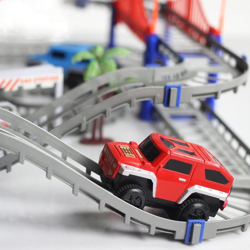 Magisk Järnvägsväg Spårleksaker DIY Variety Elektrisk Hastighet - Bilar och fordon - Foto 4