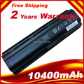 12 Cells 10400mAh  battery for HP Compaq MU06 MU09 CQ42 CQ32 G62 G72 G42 G72 G4 G6 G7 593553-001 DM4 Battery