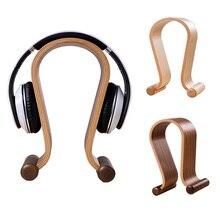 Мода U Форма наушники стоят деревянный держатель для гарнитуры наушники кронштейн наушники Дисплей Rack @ JH
