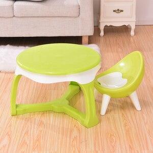 Image 4 - Spożywczy gruby plastikowy materiał przyjazny dla środowiska krzesło dziecięce stołek dziecięcy mały taboret meble dziecięce
