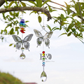 H&D 20mm/38mm Chakra Handmade Butterfly Crystal Ball Prism Rainbow Maker With Octagon Beads Home Hanging Suncatcher Ornament