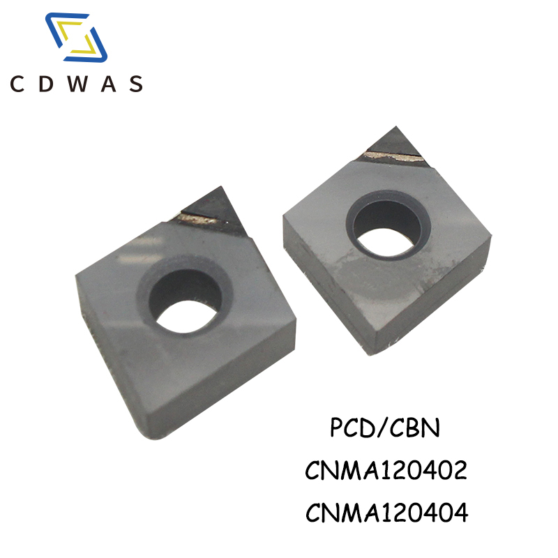 PCD CBN CNMA120404 CNMA120402 Carbide Inserts Turning Tool CNC Diamond insert For Lathe Milling Tools CNMA <font><b>120404</b></font> image