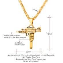 GUN Shape Pendant Necklace For Men