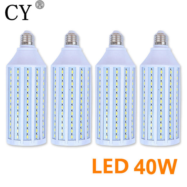 New 4Pcs E27 220v Photo Studio Bulb 40W 5730 SMD LED Video Light Corn Lamp Bulb & Tubes Photographic Lighting