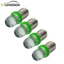 4pcs F5 LED E10 6V Screw bulb Warning signal Green Instrumentation White 12V blue Indicator red yellow 0.2W