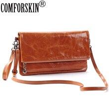 Luxurious Oil Wax Leather Retro Style Feminine Locomotive Handbag Designer High-end Market Cow Messenger Bag For Women