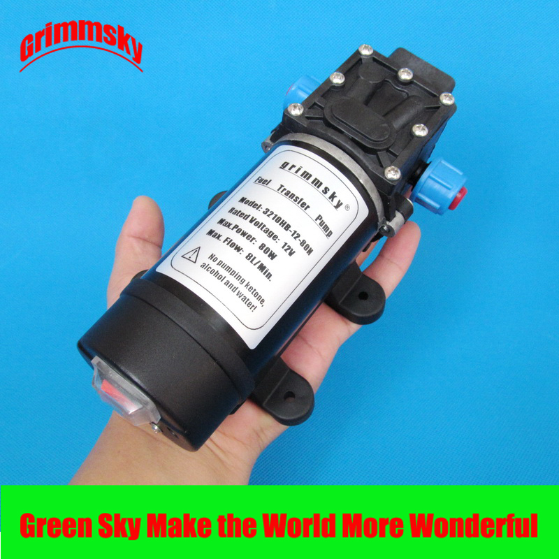 8L/Min 80 W 12 V DC pompe d'aspiration d'huile à haut débit pour essence, diesel, kérosène, huile moteur