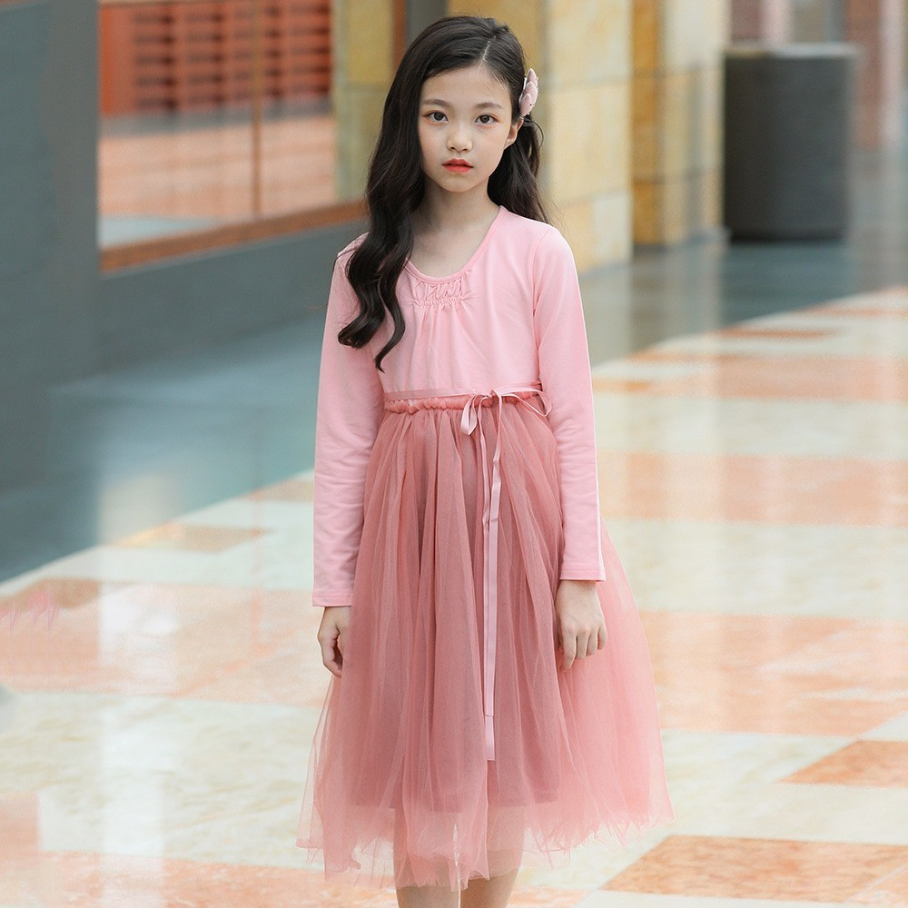 Party Dress Tutu Tulle Kids Clothes Long Sleeve Cute Princess Girl Children Clothing Girl Dresses For Party 8 Years 12 14 10 6 2018 girl party dress spring a line kids dress for girls autumn princess dresses children 2 14 clothes girl long sleeve clothing