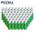50 Unids/lote PKCELL Batería AA Ni-MH 1.2 V 2200 mAh AA Recargables 2A Batería Baja Auto-Descarga Baterias