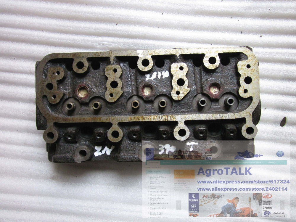 Changchai ZN390T the cylinder head for tractor, part number: ZN390T-02108 changchai zn490t for tractor use the set of piston group part number