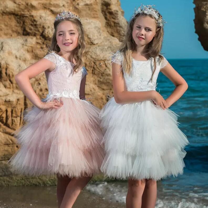 High Quality Customized Flower Girl Dress for Wedding Knee-Length  Cap Sleeves Tulle Lace  Princess Gown Any Size and Any ColorHigh Quality Customized Flower Girl Dress for Wedding Knee-Length  Cap Sleeves Tulle Lace  Princess Gown Any Size and Any Color
