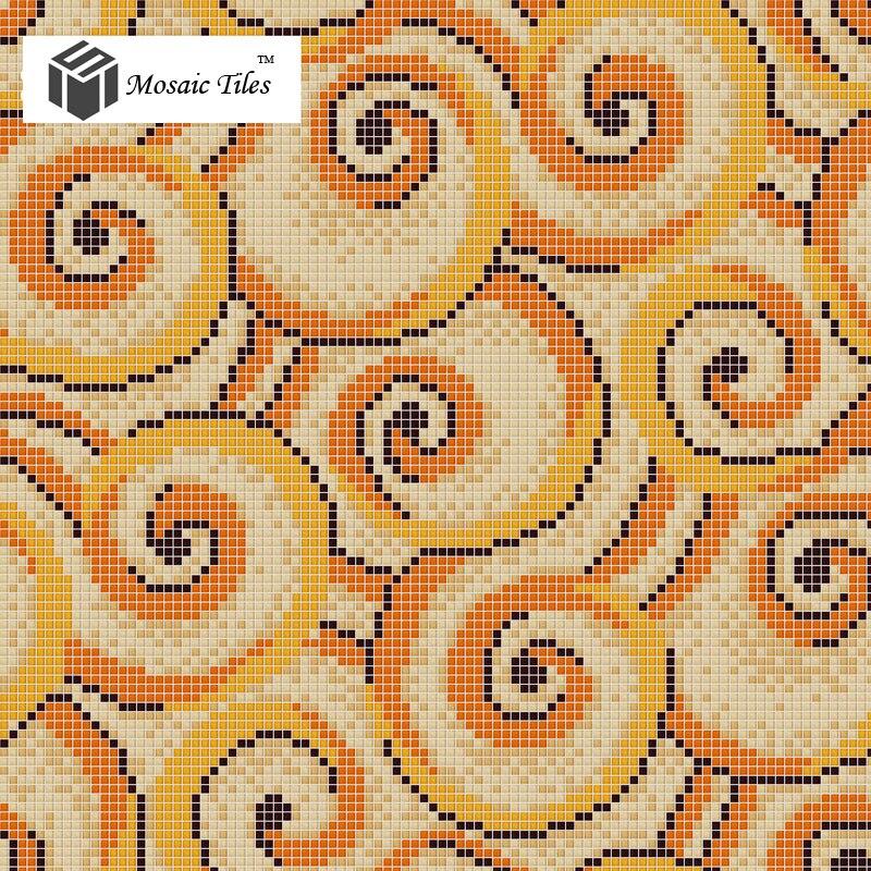 Bisazza mosaics glass flower pattern interior wall design ideas ...