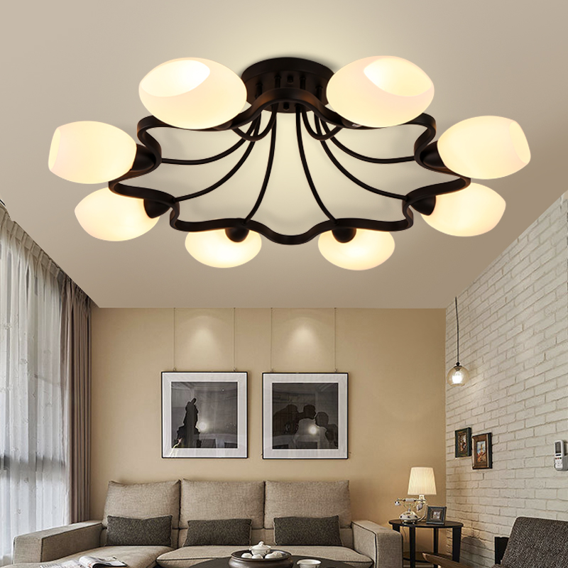 2017 New Modern Led Ceiling Lights Glass Lampshade Ceiling Lamp For Bedroom Living Room Home Lighting Fixtures Lamparas de techo new modern led ceiling lights for living room bedroom plafon home lighting combination white and black home deco ceiling lamp