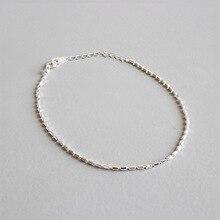 цена Real 925 Sterling Silver Bracelet for Women 2019 Fashion High Quality Thin Chain Bracelet Bangle pulseras plata de ley 925 mujer