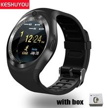 KESHUYOU รับสายแฟชั่น smart watch android สวมใส่วงเกียร์ smartwatch android อุปกรณ์สวมใส่ได้ที่รองรับสำหรับ xiaomi โทรศัพท์