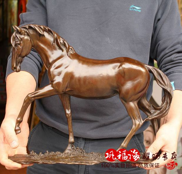 2019 home LIVING ROOM TOP Decor ART--40 CM LARGE success RUNNING horse ART bronze statue sculpture Decoration  brass decorative2019 home LIVING ROOM TOP Decor ART--40 CM LARGE success RUNNING horse ART bronze statue sculpture Decoration  brass decorative