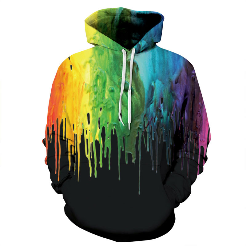 New Fashion Hooded Hoodies Men/Women Autumn Winter Thin Style Splash Paint 3d Sweatshirts Unisex Pullovers