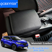 QCBXYYXH Car Styling Car Armrests Cover PU Leather Cover Internal Decoration For Renault Kadjar 2016-2018 Interior Accessory