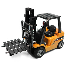 HUINA 1577 2-In-1 RC Car Forklift Truck Vehicle Crane 2.4G 360 DegreeRotation Auto Demonstration LED Light Engineering Car