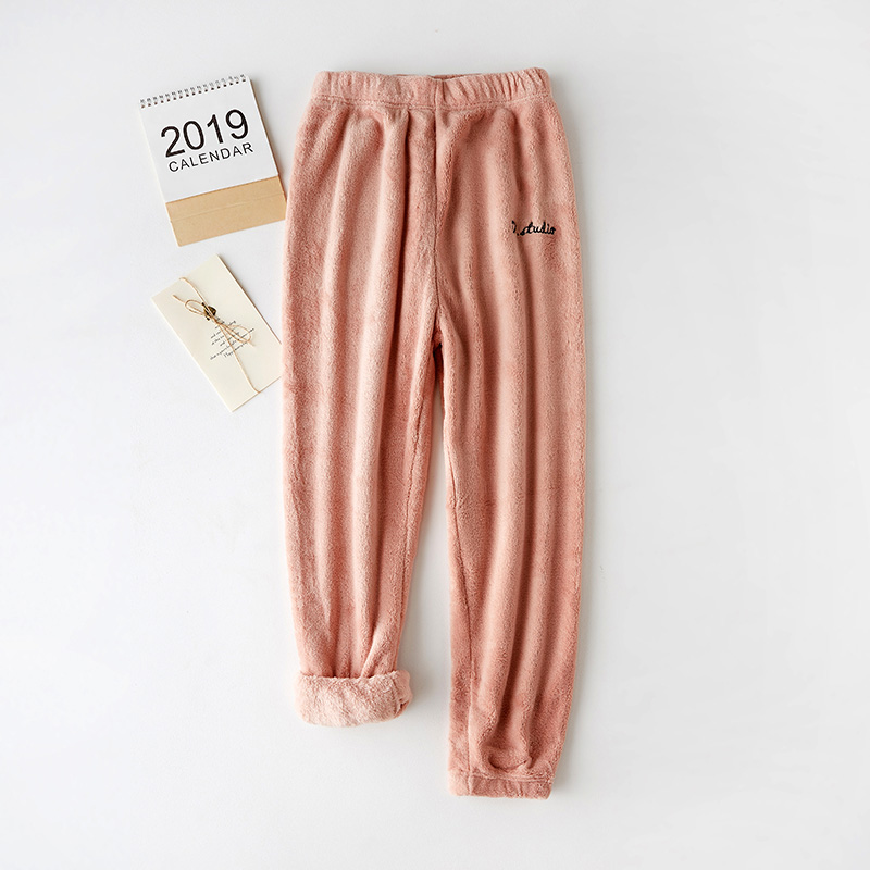 Sports Pants Women's Autumn And Winter Warm Coral Velvet Casual Loose Sleep Pants Home Lazy Pants Trousers