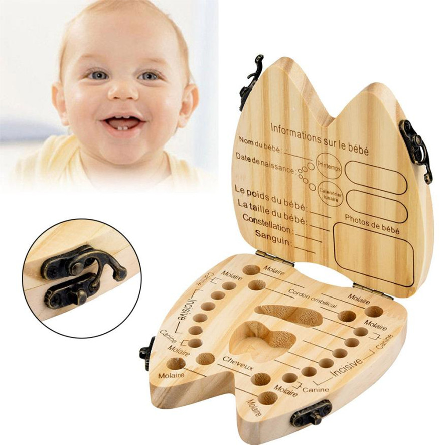 2018 New 1pc French Kids Tooth Box Organizer Baby Save