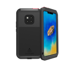 Aluminum Metal Cover For Huawei Mate 20 Pro Waterproof Full Body Heavy Duty Armor Case Shockproof
