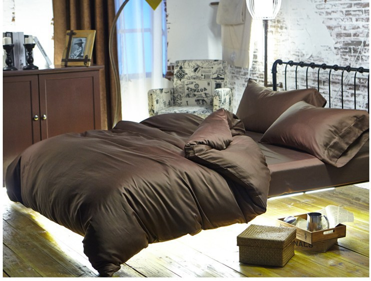 luxury brown 100 egyptian cotton bedding sets sheets queen duvet cover king size bed in - 100 Egyptian Cotton Sheets