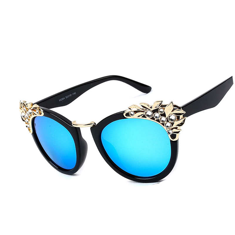New Trendy Hot 2018 Arrival Crystal Cat Eye Sunglasses Luxury Diamond  Retro Women Brand Designer UV400