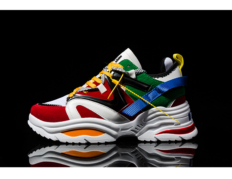 HTB1fUqoLmzqK1RjSZFLq6An2XXam BomKinta Stylish Designer Casual Shoes Men Yellow Sneakers Black White Walking Footwear Breathable Mesh Sneakers Men Shoes