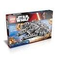 Lepin 05007 1381 Unids Star Wars The Force Despierta Millennium Falcon Modelo Kit de Construcción de Figuras de Juguete de Regalo Bloques de Ladrillo Compatible