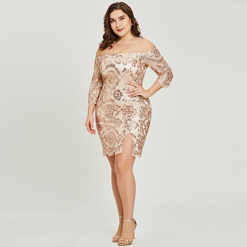 Tanpell off the shoulder cocktail dress golden half sleeves sheath gown women homecoming party formal short cocktail dresses